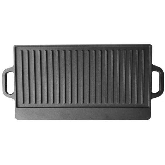 Cast Iron Non Stick Reversible Griddle Pan BBQ Grill Plate