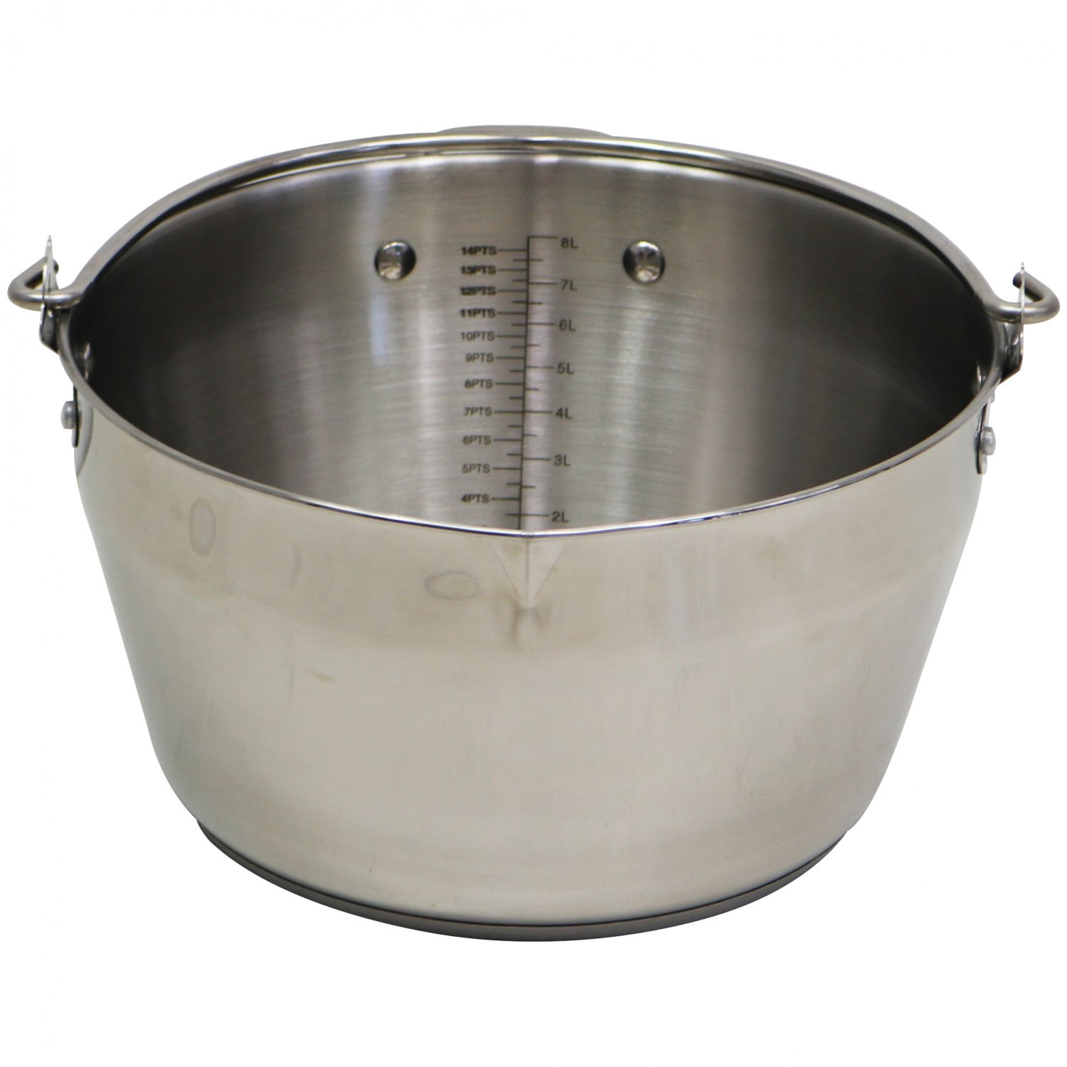 9L Stainless Steel Maslin Jam Preserving Pan with Handle