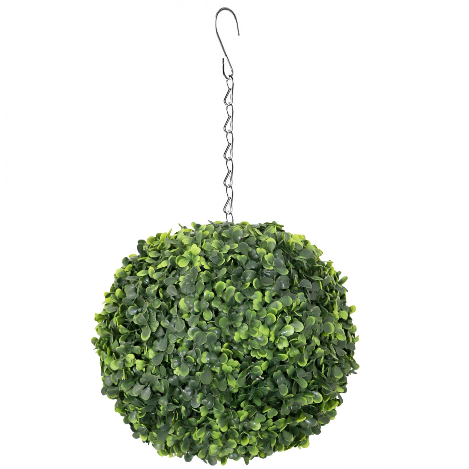 Artificial 28cm Hanging Topiary Tree Boxwood Buxus Ball