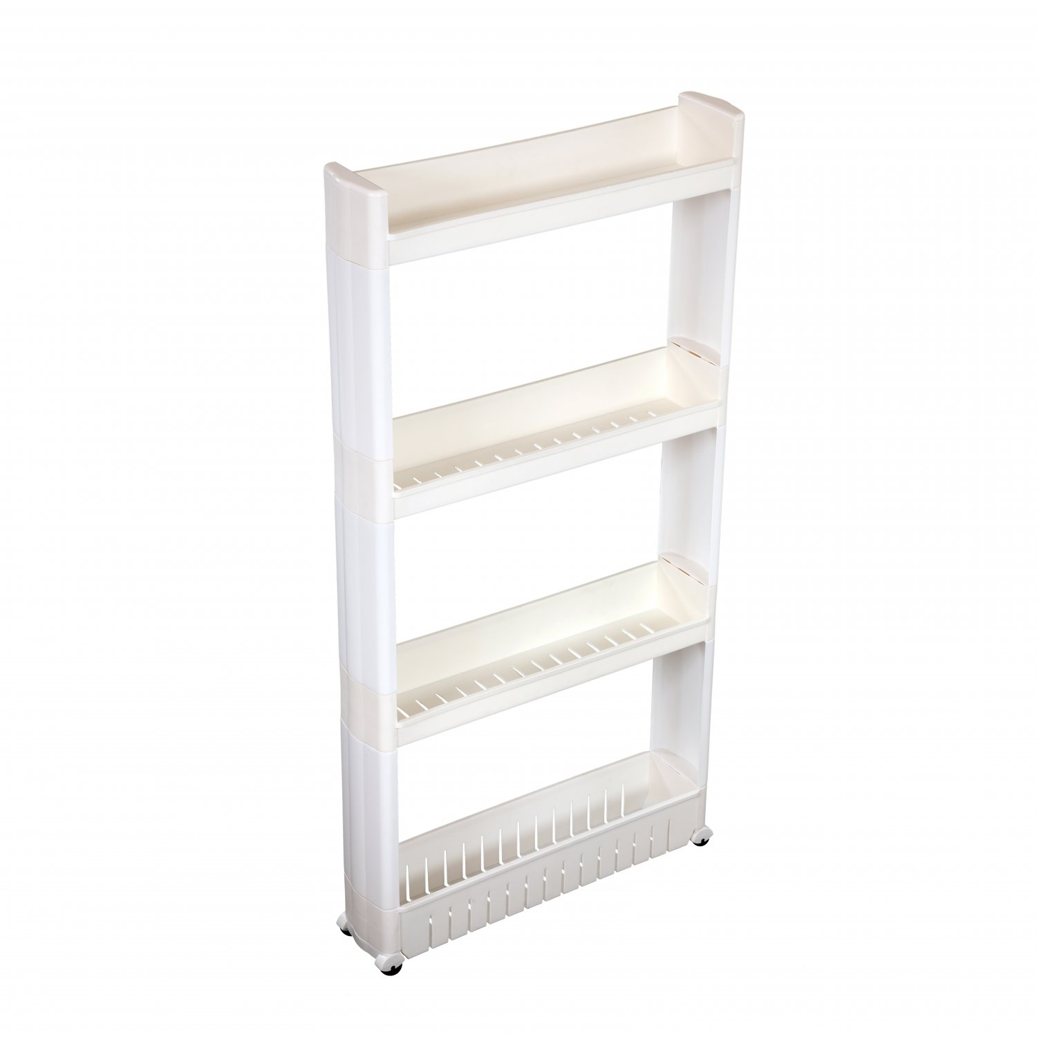 4 Tier Slide Out Kitchen Bathroom Storage Tower Shelf Organiser