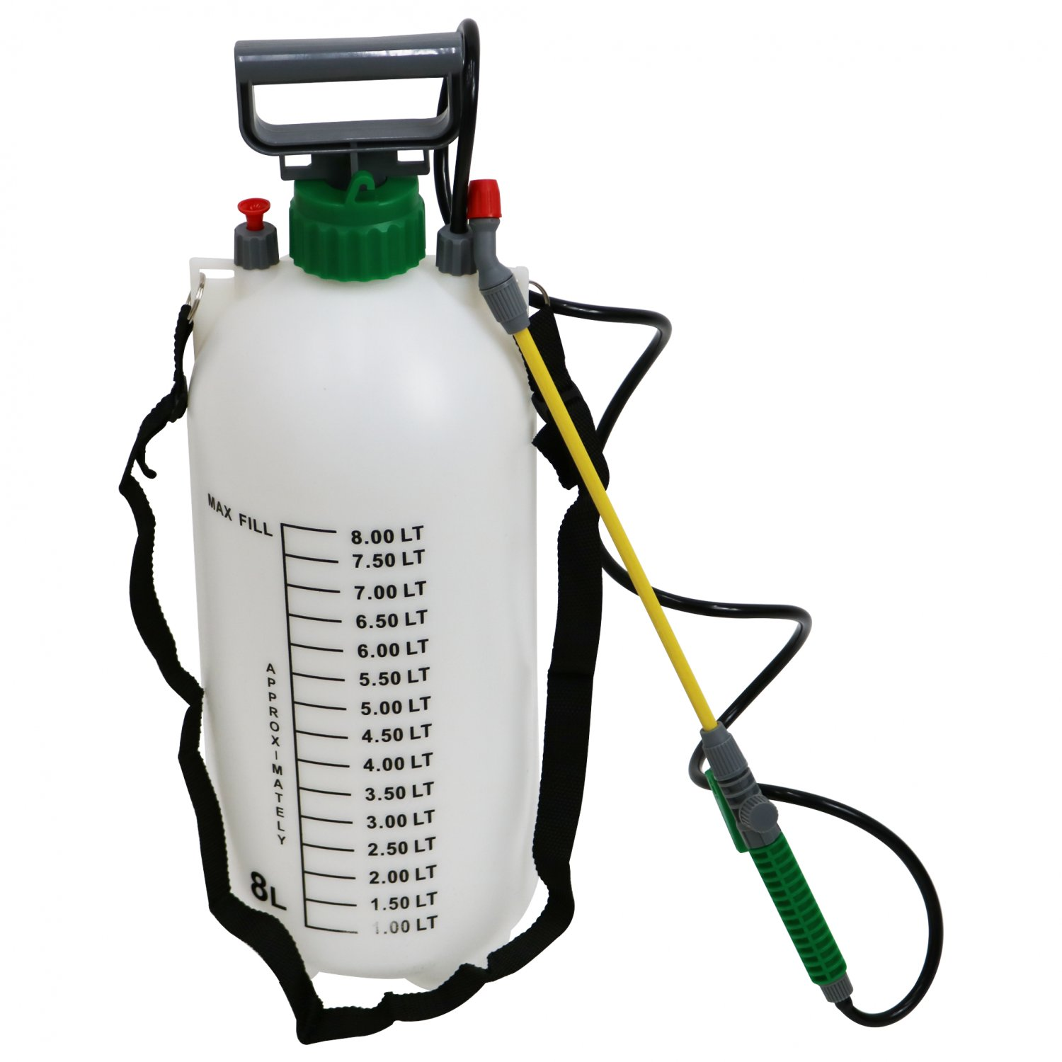 8L 8 Litre Pump Action Pressure Crop Garden Weed Sprayer