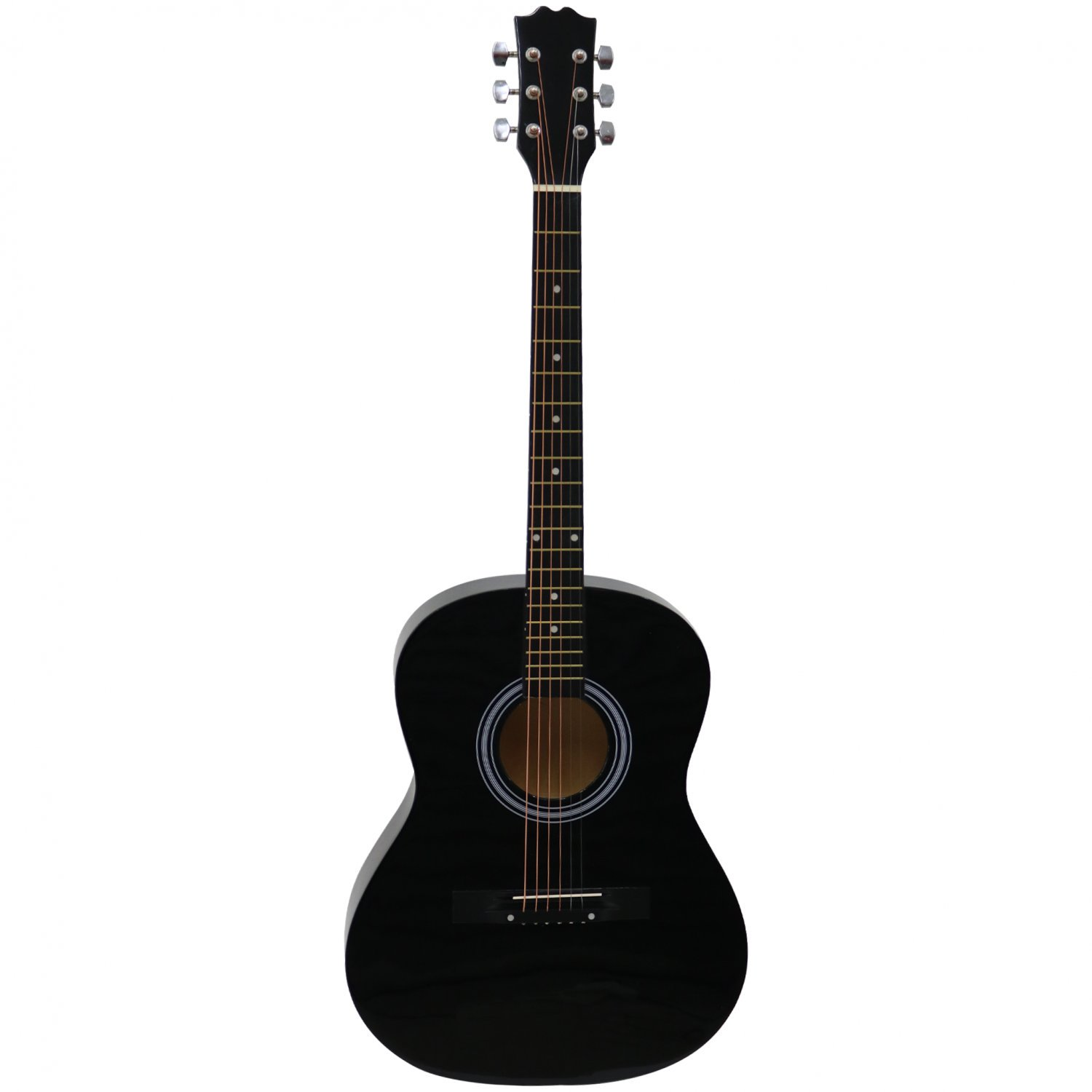 "Black 39"" Full Size 4/4 6 String Steel Strung Acoustic Guitar"