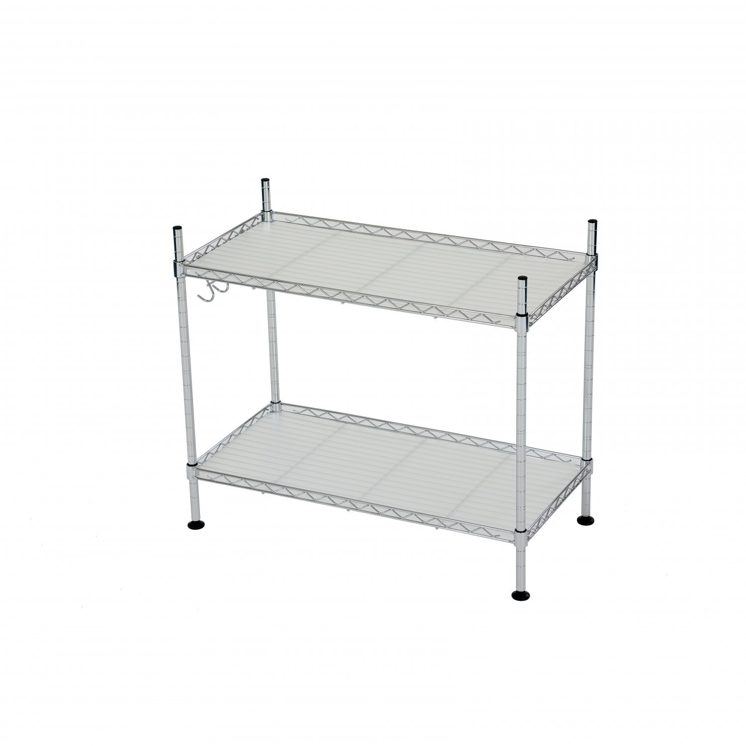 2 Tier Heavy Duty Steel Wire Microwave Oven Rack Kitchen Shelf