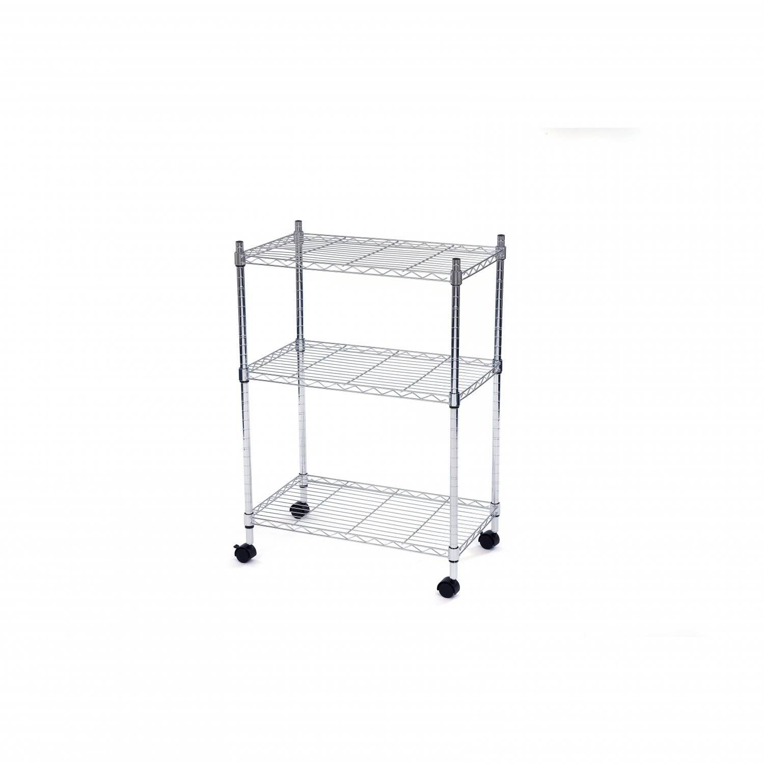 3 Tier Heavy Duty Steel Wire Rack Kitchen Storage Trolley Unit