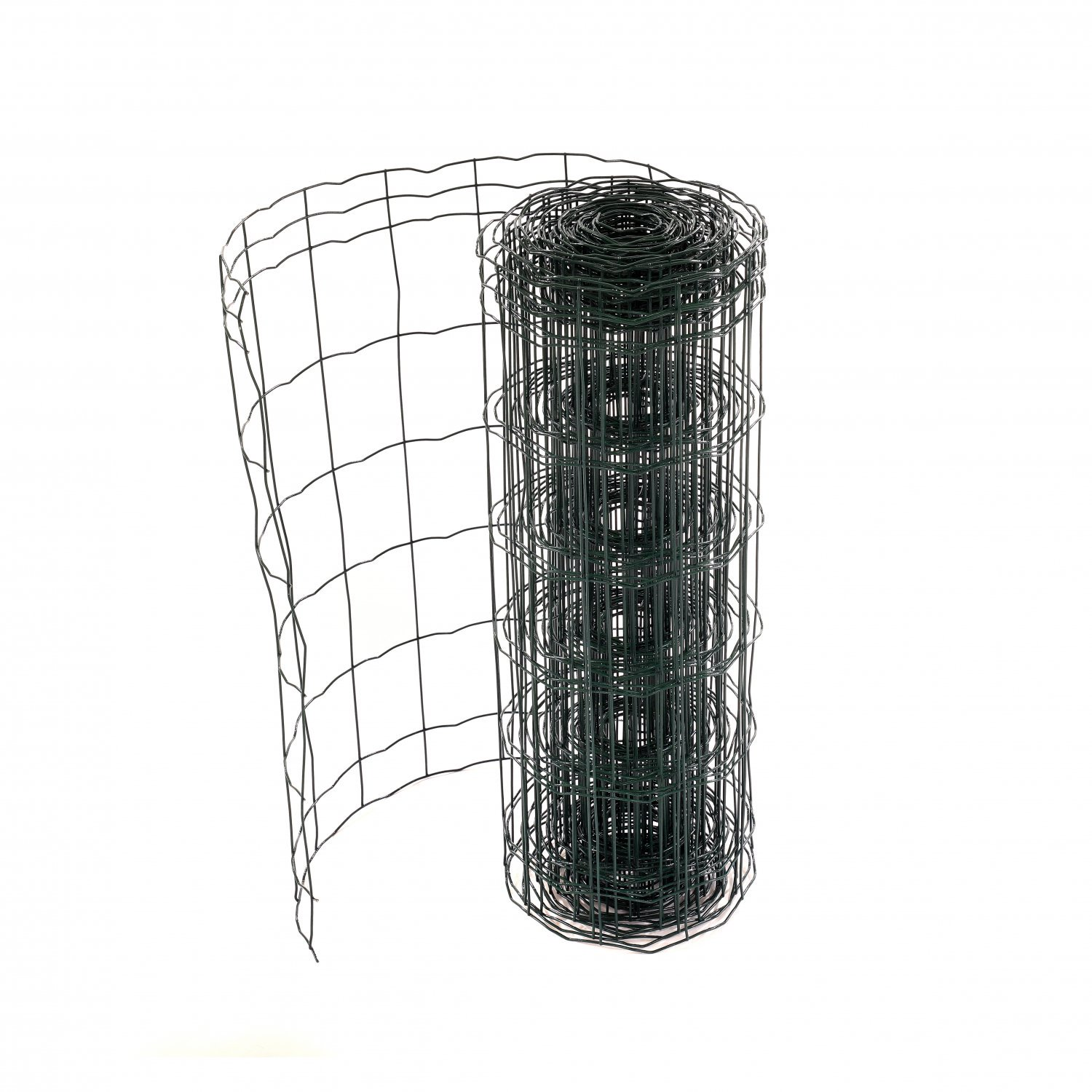 0.6m x 10m Green PVC Coated Galvanised Steel Mesh Stock Fencing