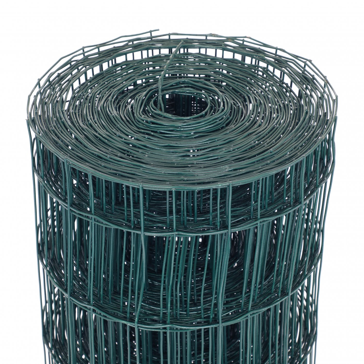 1.2m x 25m Green PVC Coated Galvanised Steel Mesh Stock Fencing