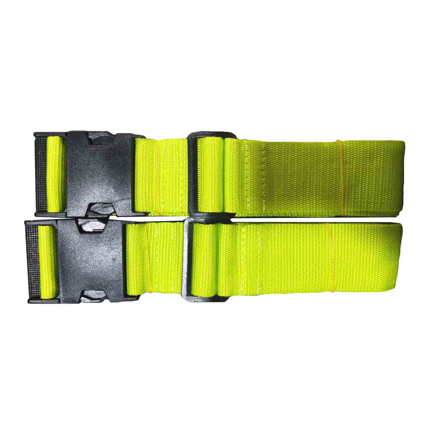Pack of 2 Green Suitcase Luggage Travel Straps Belts Fasteners