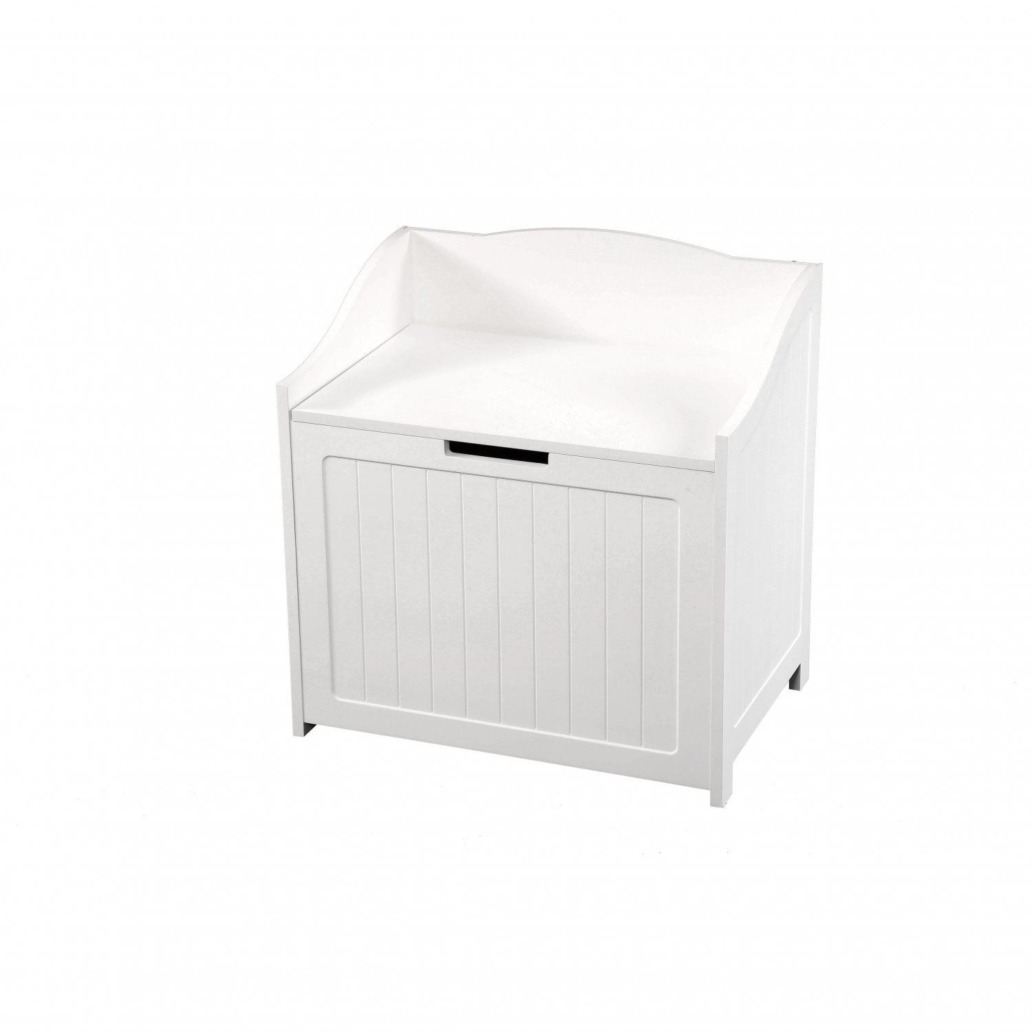 White Storage Toy Box Laundry Basket Organiser Chest with Easy O