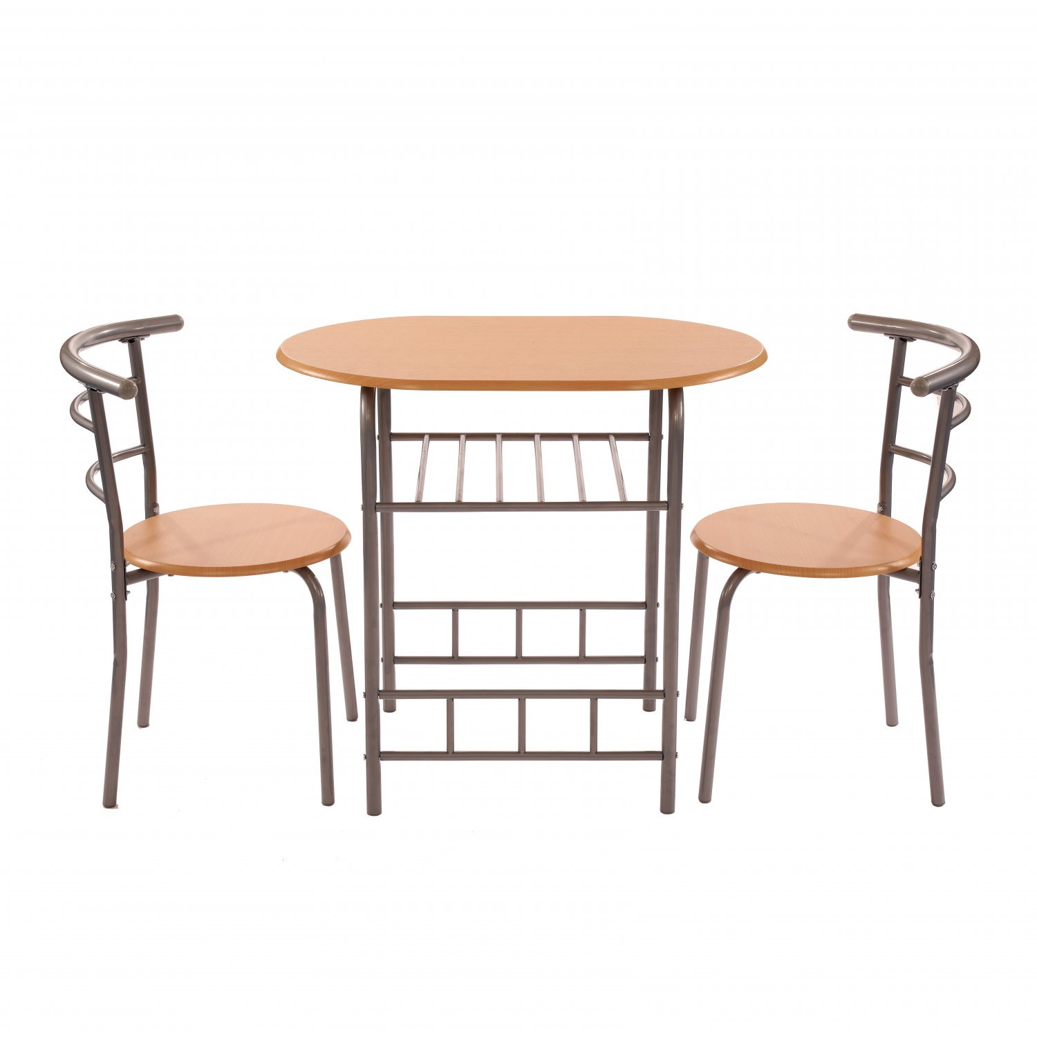 3pc Dining Kitchen Table and Chairs Set Breakfast Bar Furniture