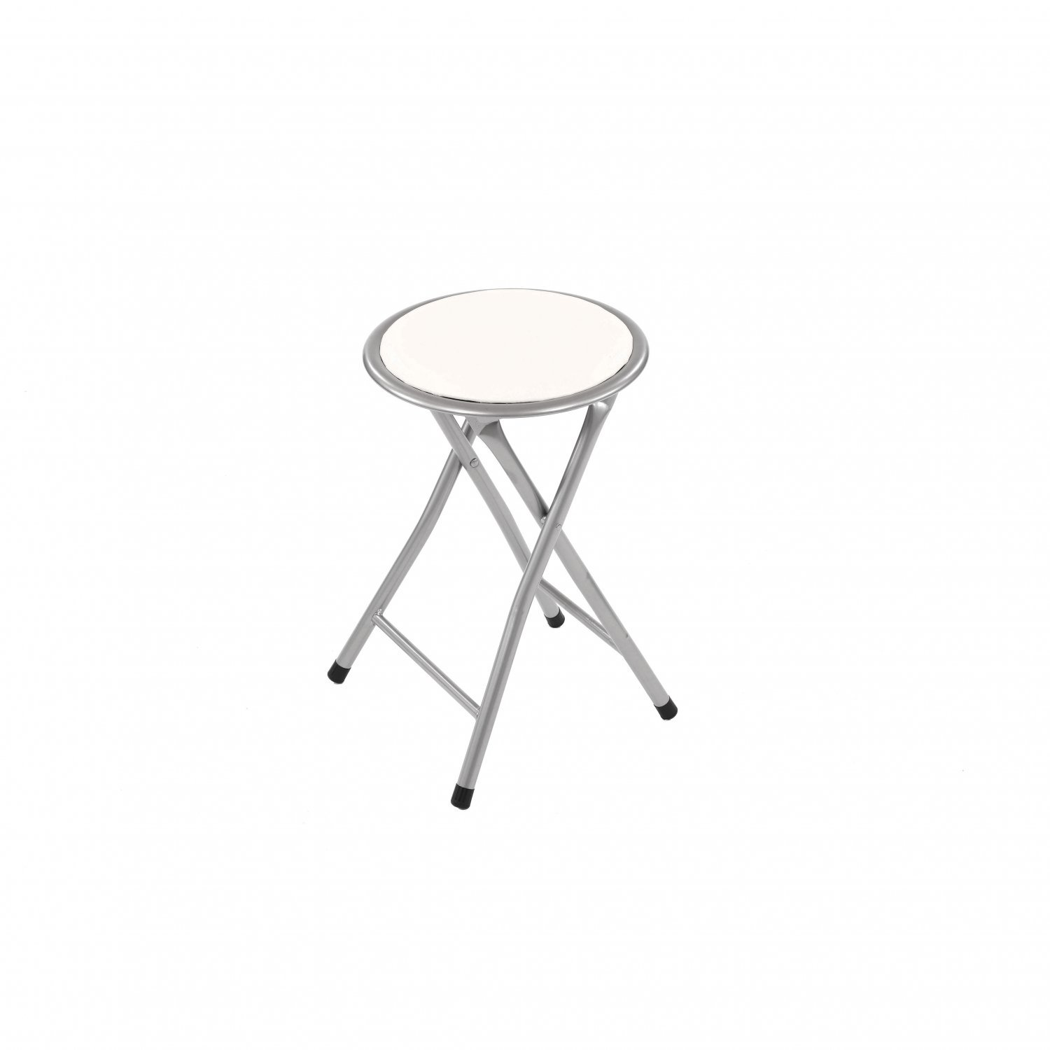 White Padded Folding Breakfast Kitchen Bar Stool Seat