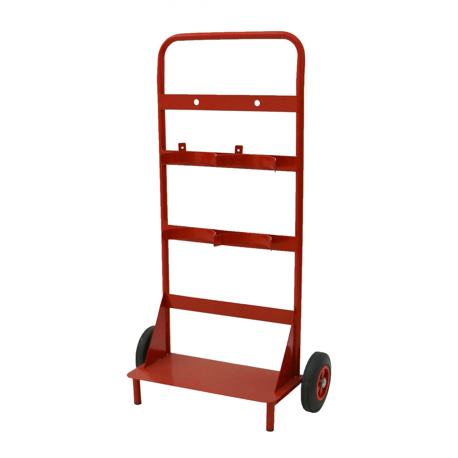 Mobile Double Fire Trolley & Stand - Red - Home - DIY
