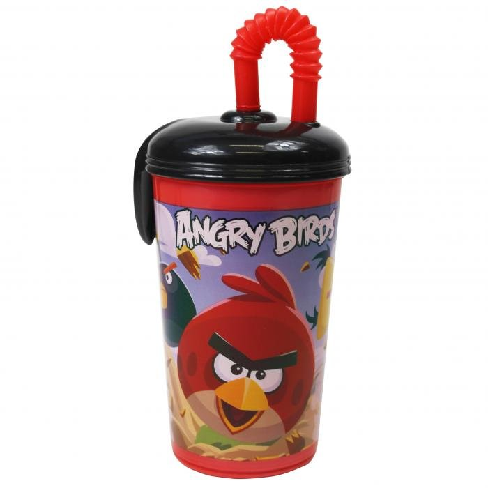 Angry Birds Party Sport Drinks Tumbler + Straw