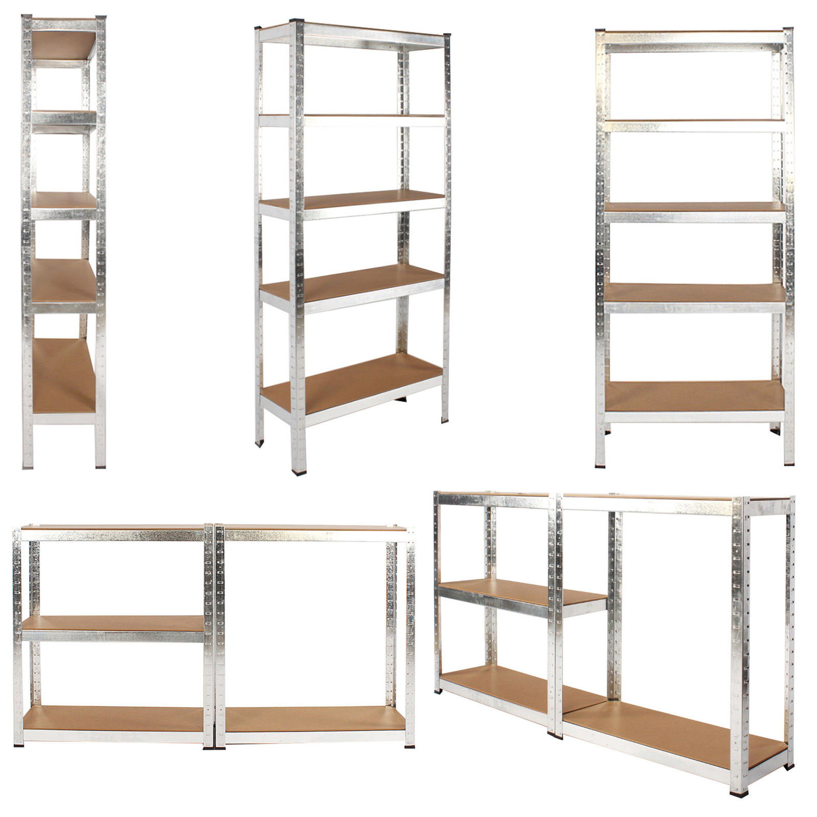 500kg Heavy Duty 5 Tier Metal Storage Garage Shelving Racking