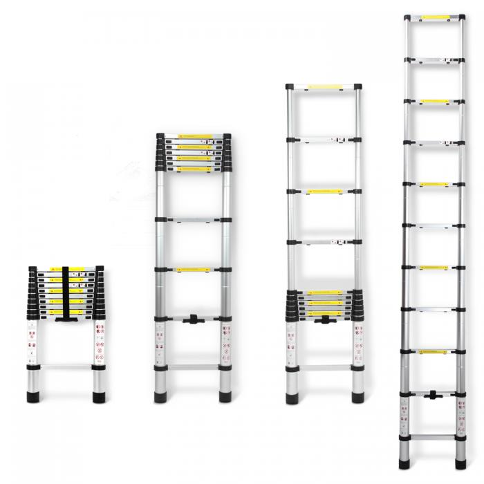 3.2m Multi Purpose Extendable Aluminium Telescopic Ladder Steps